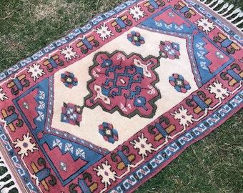 "2""7x3""10ft.rugs,rug,Small rug,home deco rug.vintage oushak rug,floor rug,oushak vintage rug,turkish rug,anatolion rug,hallway rug,area rug."