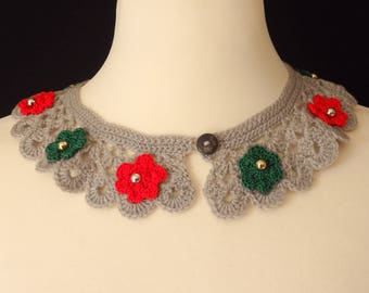 "Crochet Peter Pan Collar ""Christmas"""
