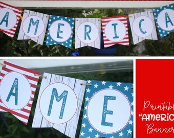 4th of July Banner - Fourth of July Patriotic Home Decor - Farmhouse Style 4th of July Decorations - INSTANT DOWNLOAD