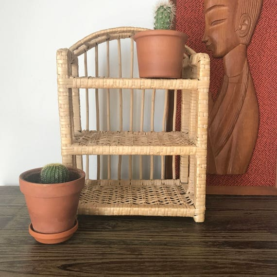 Small woven wicker decor shelf display knick knack trinkets Home decor knick knacks