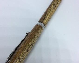 Ovangkol & Platinum Handcrafted Ballpoint Pen