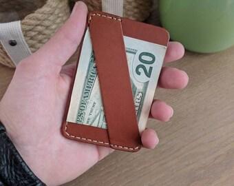 Leather Minimalist Wallet, Slim Leather Wallet, leather Front Pocket Wallet, Groomsmen Gift, Personalized Leather Wallet, Mens Slim Wallet