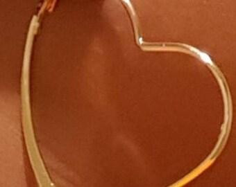 Heart-Shaped Hoop Earrings