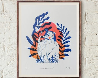 Lost and Frond - 9x12 small edition screen print