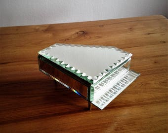 Jewelry box - beveled mirror - grand piano - vintage