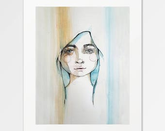 Nácar - Fine Art Print of original watercolor illustration