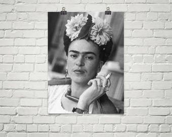 Frida Kahlo Poster - Bohemian Wall Art - Frida Kahlo Art - Frida Kahlo Print - Frida Kahlo Photograph -Premium Semi-Gloss Photo Paper Poster