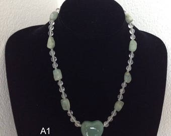 Several beautiful handmade necklaces made of beads and materials from various countries fun as a gift for e.g. birthday or Mothers Day