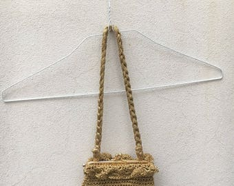 Gold Lurex Crochet bag with CLAC click Closure
