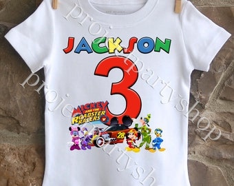 Mickey and the Roadster Racers Birthday Shirt, Mickey Mouse Birthday Shirt
