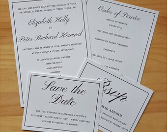Invitation & RSVP, Traditional Wedding Stationery