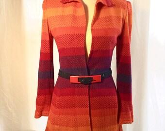 Vintage 1980's Missoni Knit Cardigan with belt