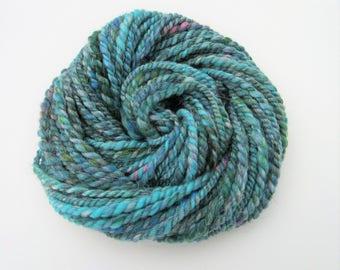 Hand Spun Yarn 'Mermaids Tail' 48 g/1.75 oz 25.5 m/27.5 yds - Bulky - Art  Yarn - Hand Spun - Wool - Yarn - Weaving - Knitting - Doll Hair