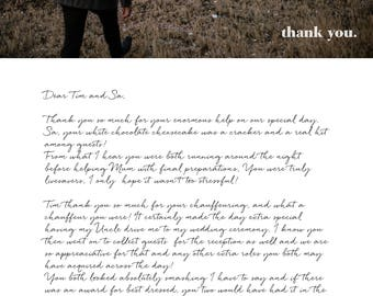 Digital Wedding Thank You Letters/Cards