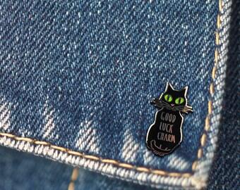 BUY 1, GET 1 Random Pin Free! Cat Enamel Pin Black Cat Lapel Pin Good Luck Charm Pin Badge Cat Lover Pin Cute Pin Hard Enamel Pin Lucky Pin