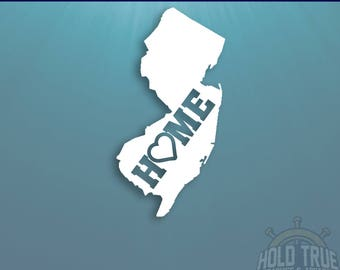 New Jersey Decal - PICK COLOR and SIZE - New Jersey Home Decal - Nj Decal - New Jersey Car Decal - New Jersey sticker - New Jersey