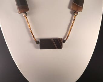 Brown Agate Stones Necklace