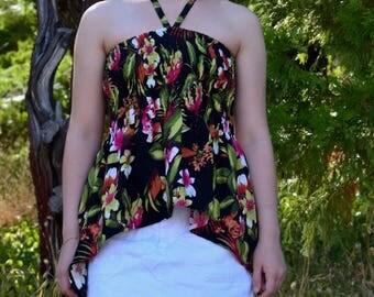 Hawaiian Shirt / Summer Shirt / Halter Top / Women's Tops