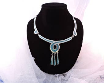 Silver 925 Turquoise Turquoise Inlaid Pieces necklace pendant Taxco Mexico
