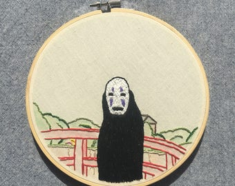 No Face Needlepoint - Spirited Away