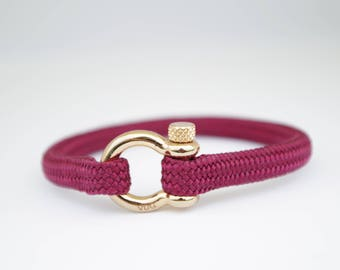 BURGUNDY & gold | Sailing bracelet - Custom and Handmade
