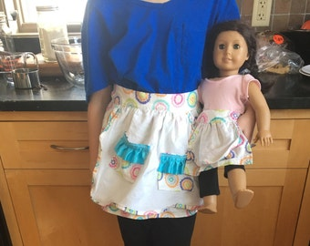 Handmade Dollie and Me Matching Apron