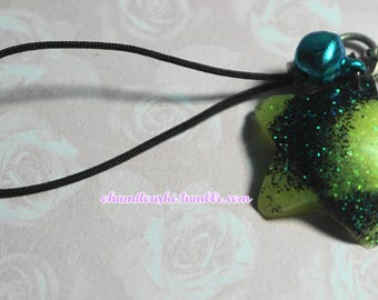 Neon Star Cell Phone Charm