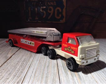 Tonka Truck, Vintage TONKA FIRE TRUCK, 1970s Tonka Fire Engine, 1970s Toys, Tonka Toy Firetruck, Old Metal Toy Trucks, Tonka Ladder Truck 7