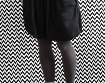 ROCK/SKIRT/wrinkles / / black / / / organic organic fair trade