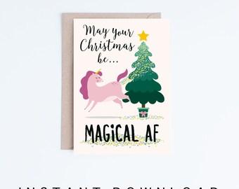 Unicorn Christmas Cards