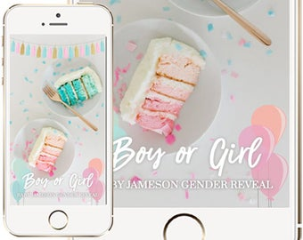 Gender Reveal Party Snapchat Geofilter, Baby Shower Snapchat Geofilter, Gender Reveal Geofilter, Geofilter, Gender Reveal Party Ideas