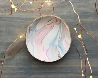 Multi Marbled Ring Dish