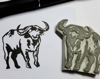 Buffalo Rubber Stamp