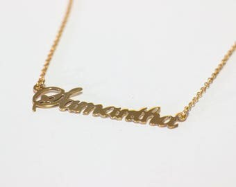 Gold plated carrie name necklace carrie bradshaw necklace with name my name on necklace