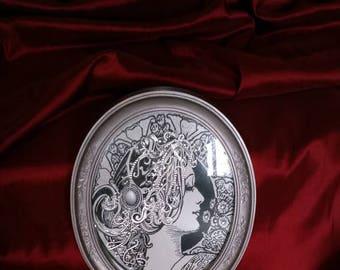 The Silver Goddest Framed 8 x 10 Oval Print