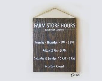 Custom Store Sign, Custom Hours Sign, Store Hours Sign, Store Hours, Hours Wooden Sign, Store Sign, Business Sign, Business Hours, Signs