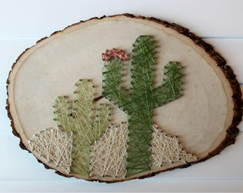 Desert Cactus String Art