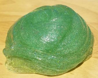 Sparkle Green Shimmer Slime/Slime/Fluffy Slime/Glitter Slime/Sparkling Slime/Scented Slime/Clear Slime/Fluffy/Metallic/Butter Slime