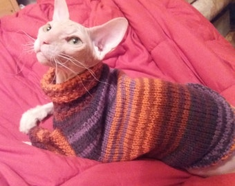 Cat clothes, clothes for cat, cat sweater, sphynx sweater, devon rex, sweater for cat, clothes for sphynx, sphynx clothes, sphynx