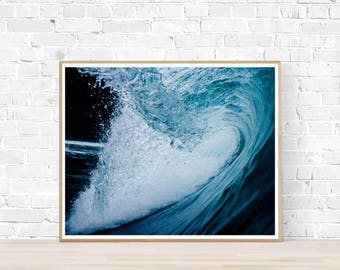 Wave Print | Wave Art | Ocean Print | Ocean Photograph | Coast Print | Coast Art | Wave Picture | Wave photography | Contemporary Print