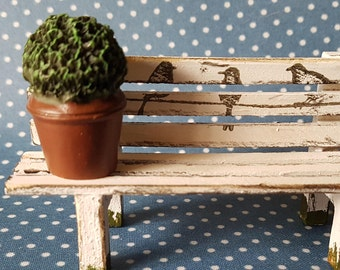 Shabby garden bench for the doll house