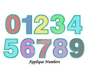 Numbers Applique Design - Applique Numbers Embroidery Design - 3,4,5 inch size instant download