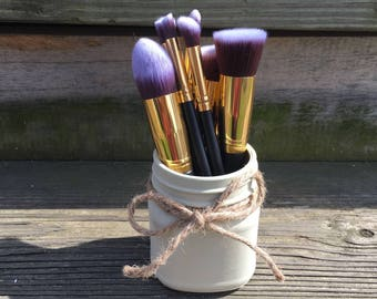 Small Mason Jar Makeup Brush Holder