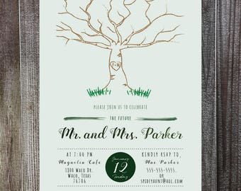 Tree Couples Shower Invitation