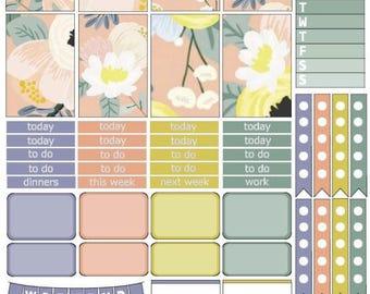 Pastel Floral Printable Planner Kit