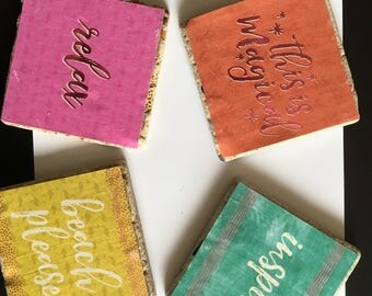 Personalized Tile Coasters for Any Room!