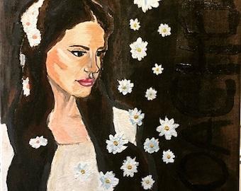 Lana Del Rey coachella inspired painting.