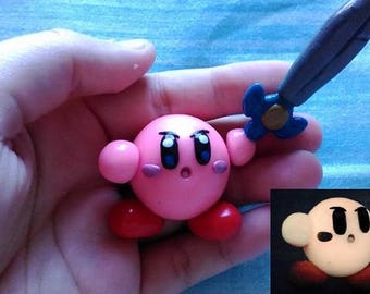 Kirby Cold Porcelain Figure - GLOW IN DARK - Posable Figurine