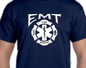 EMT Fire Rescue Emergency Firefighter Paramedic Tee Shirt