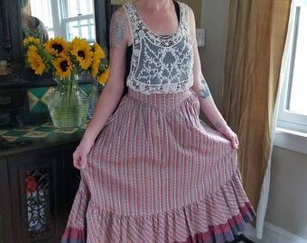 1970's Vintage Prairie Skirt